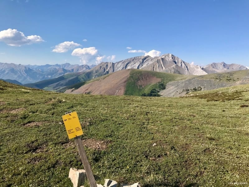 The Banff National Park boundary is right on the ridge!