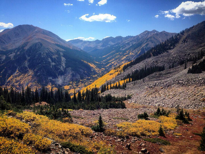 Hope pass fall foliage aspens in colorado