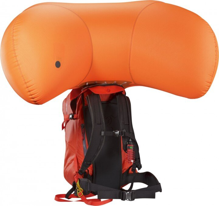 Arcteryx Voltai -30avalanche pair bag - shown deployed