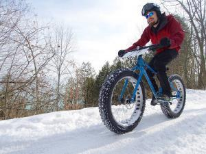 fat tire bike on snow