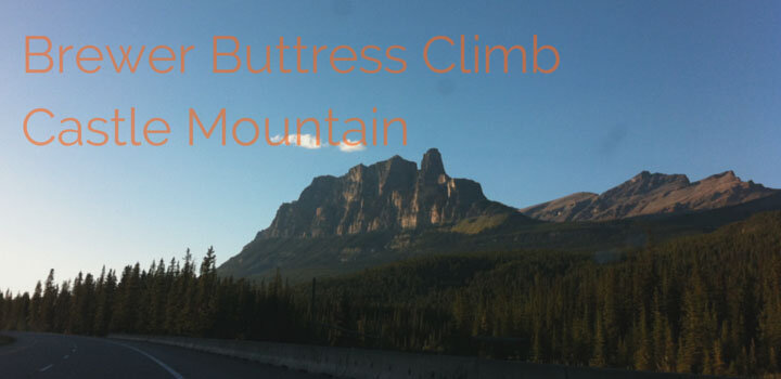 brewers buttress climb on castle mountain