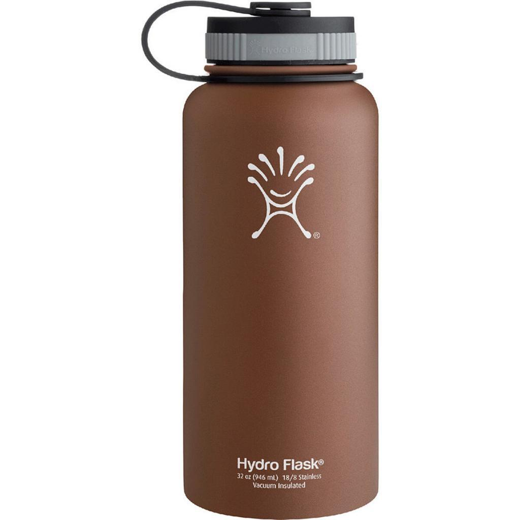 The Hydro Flask Wide Mouth water bottle in Copper Brown fits 24 ounces of liquid. Image from Backcountry.