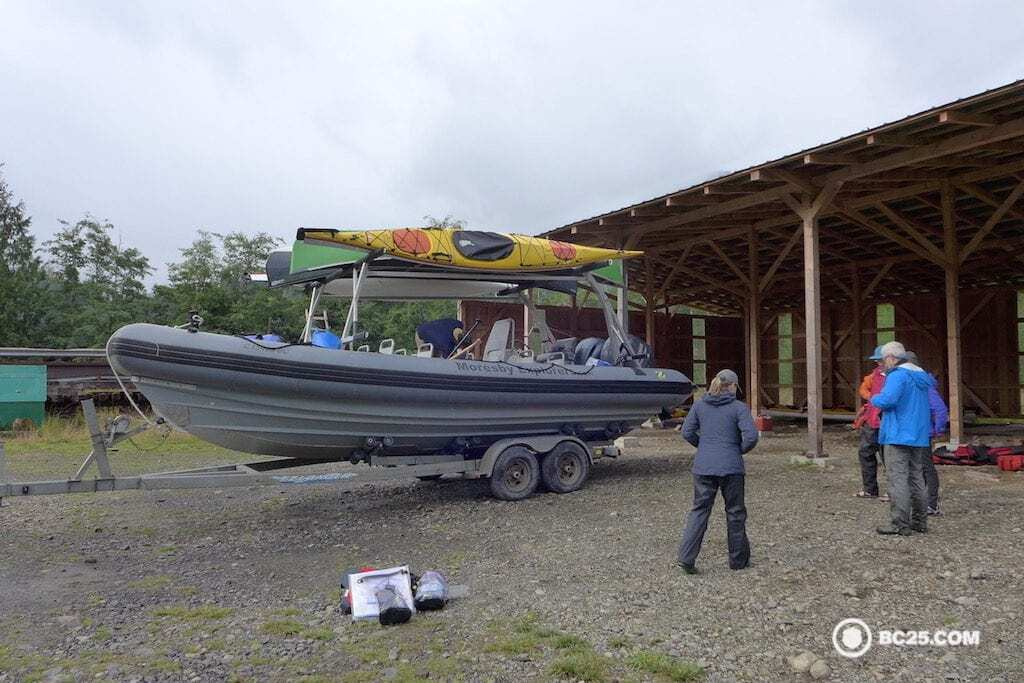 Loading up the Zodiac for some Gwaii Haanas action.