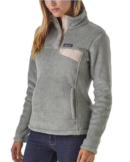 Patagonia Re-Tool Snap T pullover is a classic. Tailored grey nickel colour for women shown. Image from REI.