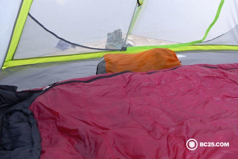 Unpack your sleeping bag as soon as you get to camp to allow the fibres to decompress.
